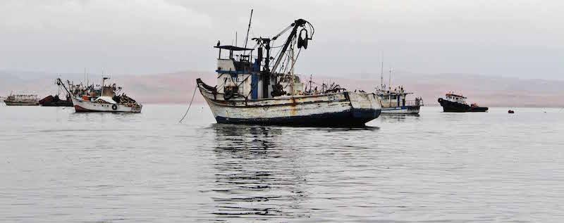 Fishing boats. Paracas