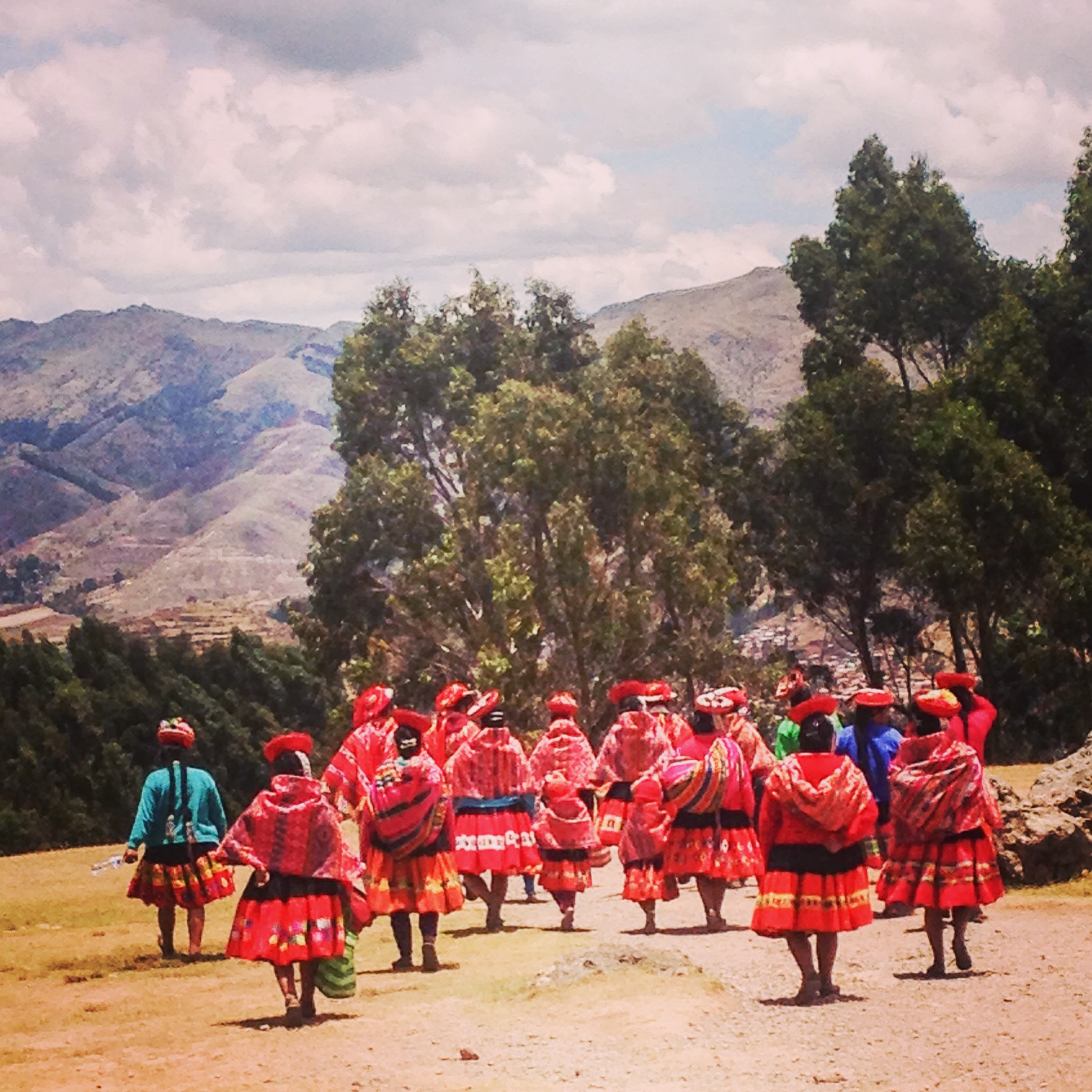 Traditionally dressed women Cusco