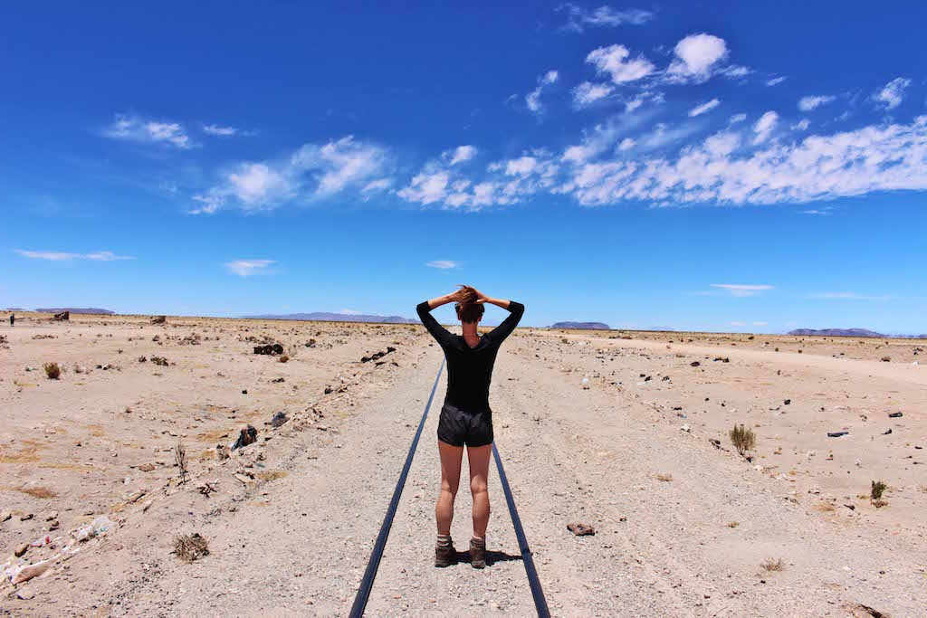 Lynds Train tracks, Bolivian Salt Flats