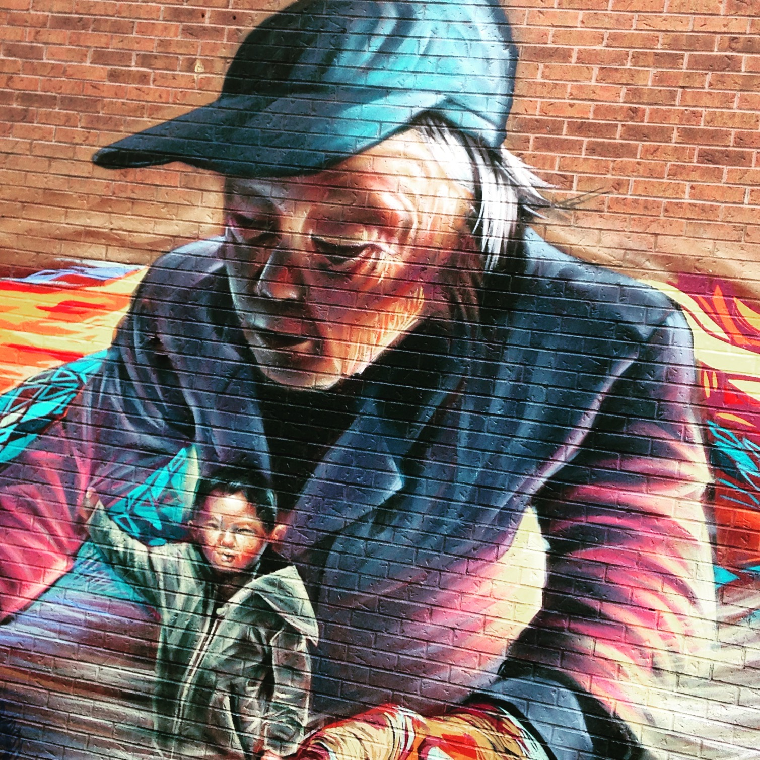 Inca to Inuit - Running for the border, Toronto Street Art