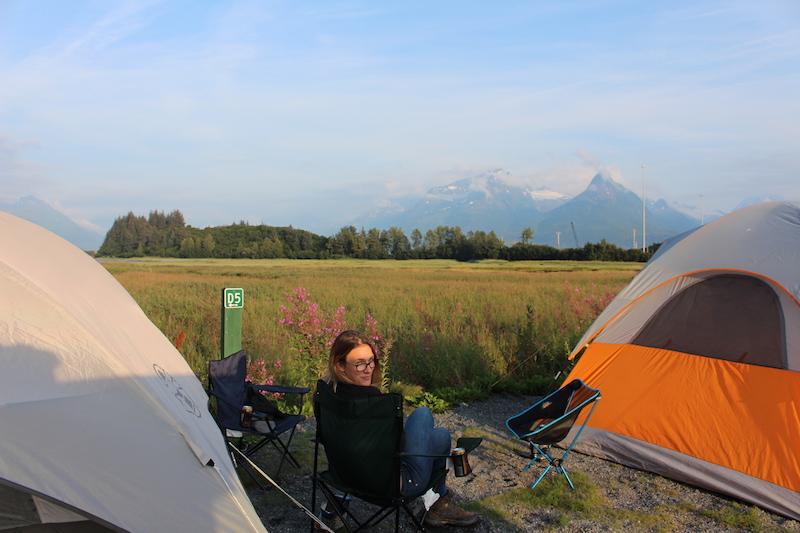 Lyndsay camping in valdiz