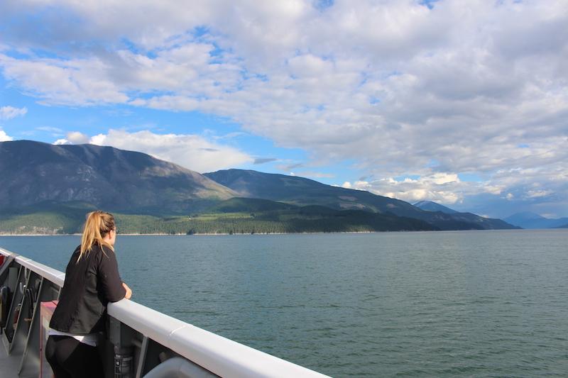 Lyndsay on boat